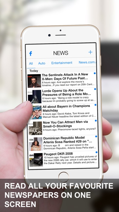 News App - RSS ReaderСкриншоты 1