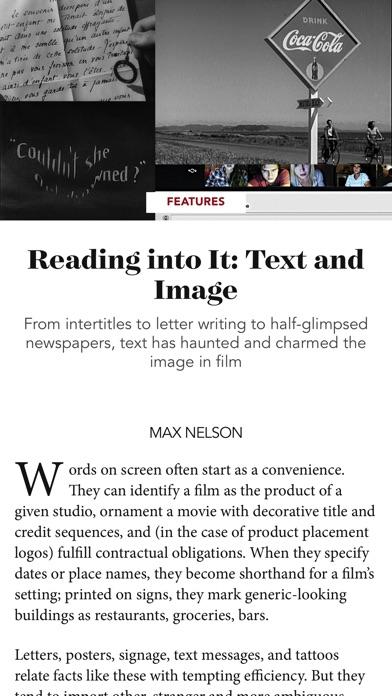 Film Comment review screenshots
