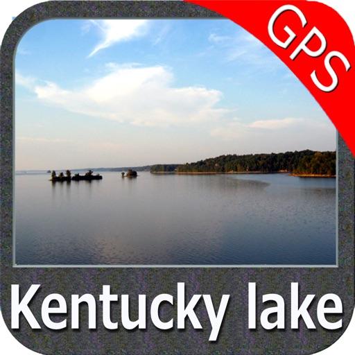 Kentucky Barkley Lakes Gps Fishing Spot Chart By Flytomap