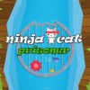 Cute Ninja Cat Falling Prisoner