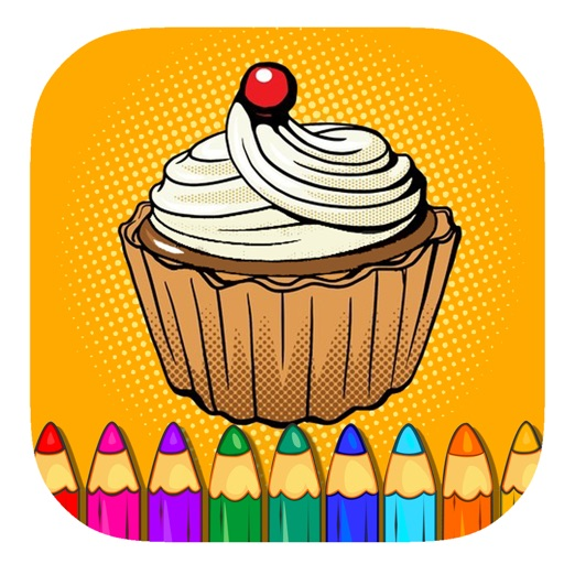 Toddler Kids Coloring Page Cup Cake Game Edition iOS App