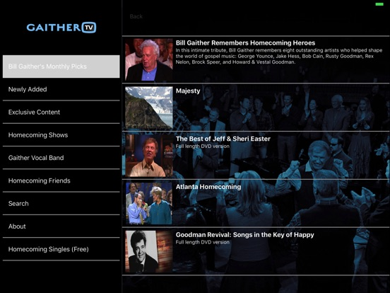 Screenshot #2 for GaitherTV