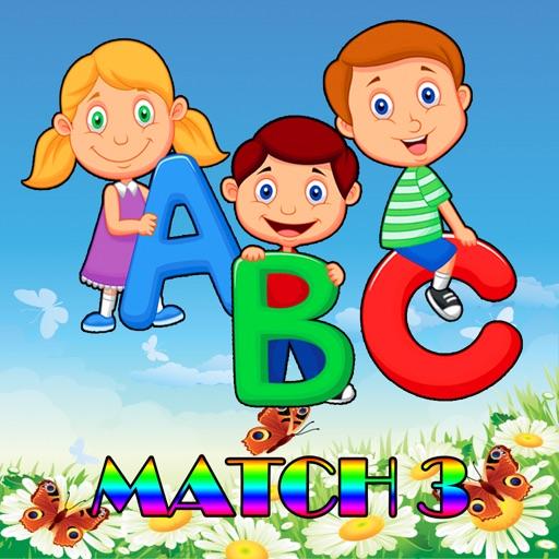 ABC Match 3 Puzzle - ABC Drag Drop Line Game iOS App