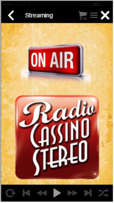 Screenshot of RadioCassinoStereo3
