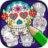 Mexikanische Zuckerschädel-Maske - Ausmalbilder