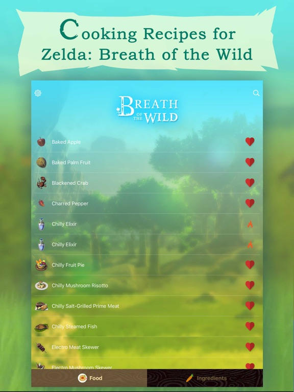 Breath Of The Wild Recipes For Food