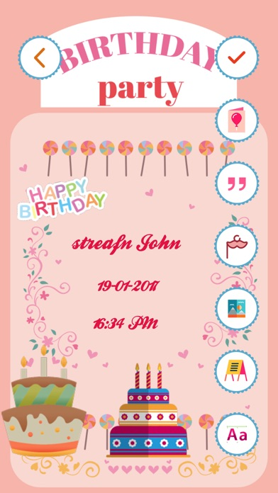 birthday invitation maker