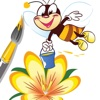 Bee Coloring Book Games For Kids Version