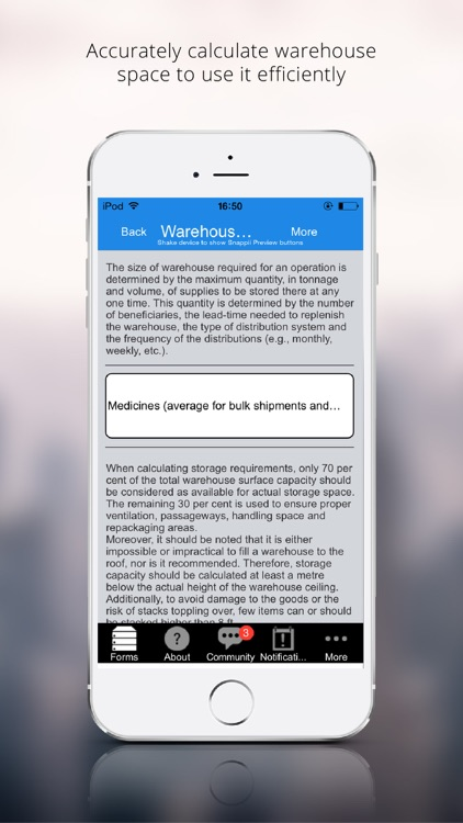 Warehouse Lease and Capacity Calculator by Snappii