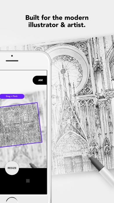 Drawing Grid & Outline Tracing by Myvinchy Screenshot