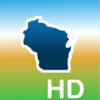 Aqua Map Wisconsin WI Lakes HD - Nautical Charts