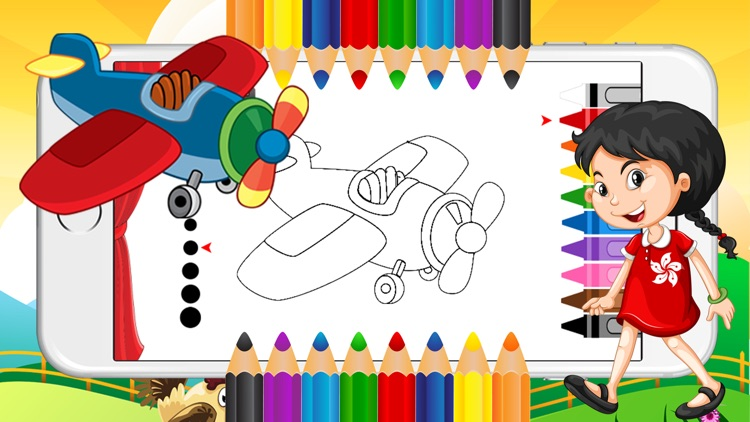 Truck Paint Coloring Book