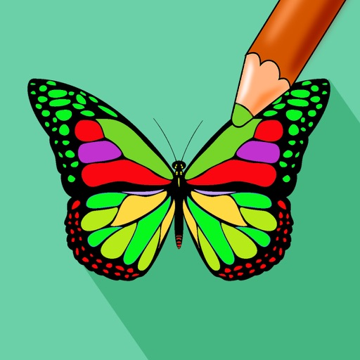 Butterfly Color - Coloring Book for Stress Relief iOS App