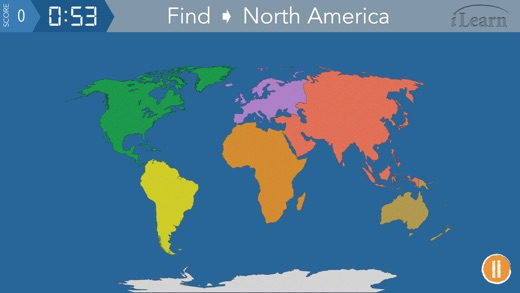 Worksheet. iLearn Continents  Oceans on the App Store