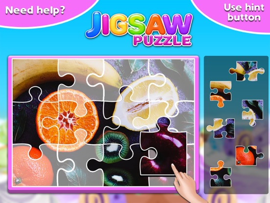 Screenshot #4 for Fruits & Vegetables Jigsaw Puzzle - Fun With Foods