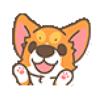 Dang Doan - cute corgi japanese talk Animated Stickers artwork