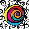 app icon of PrismaJoy Coloring Book for Adults - Art Therapy