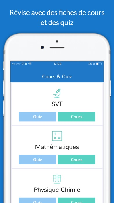 iphone screenshot 1 - Resume Cours Science Bac Math