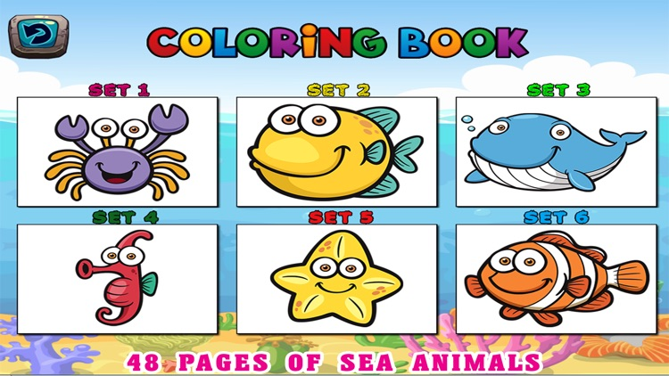 Sea Animals Kids Coloring Pages  Vocabulary Games by Jadet