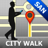 San Antonio Map and Walks, Full Version