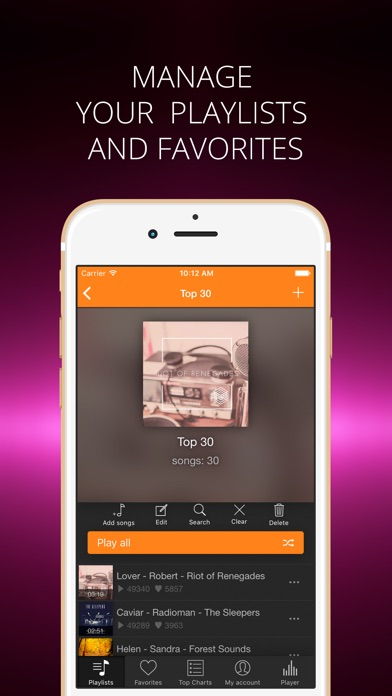 Soundy player for soundcloud on the app store iphone screenshot 4 ccuart Image collections