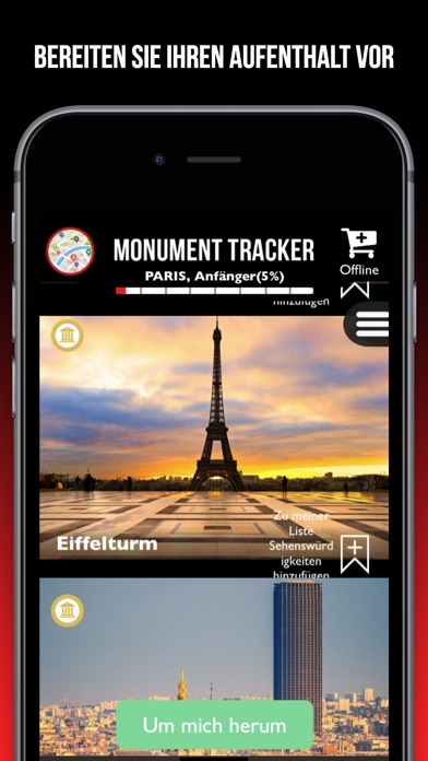 Guide Tours Monument Tracker Screenshot