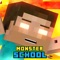 download Monster School & Herobrine Skins For Minecraft PE
