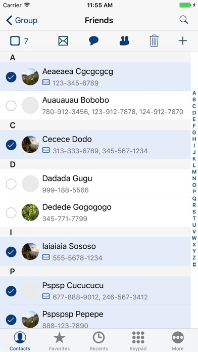 iContacts+: Group Contacts Screenshots