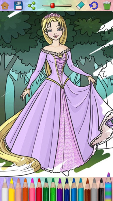 Screenshot of Fairy Princess libro da colorare2