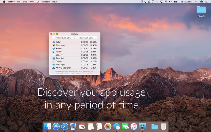 Statsey - app usage statistics in your menu bar Screenshots