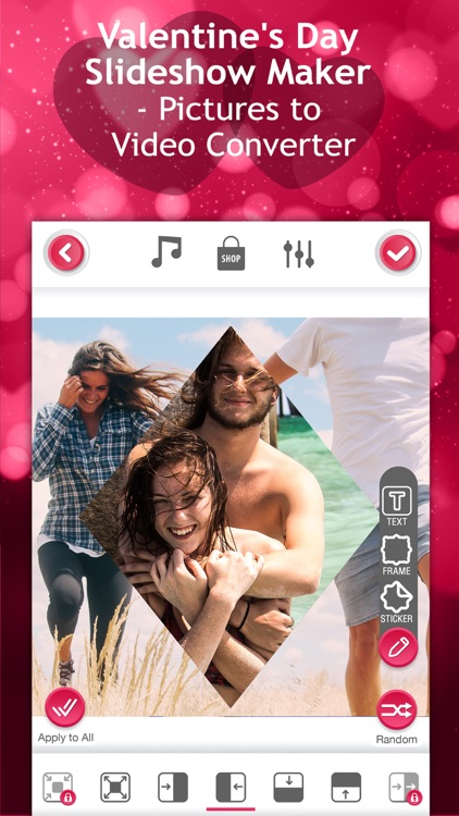 love videos creator valentines day slideshow