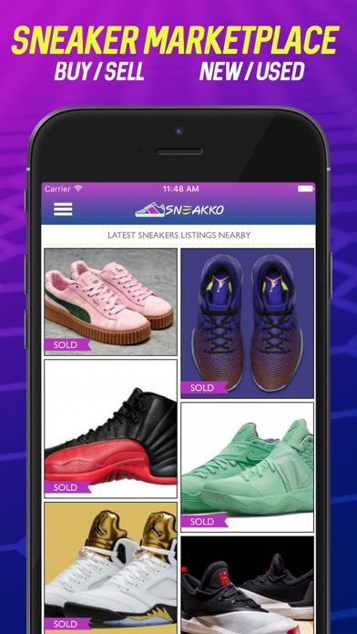 sneakko buy sell sneakers flipping marketplace app download android apk. Black Bedroom Furniture Sets. Home Design Ideas