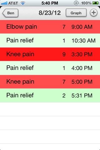 Chronic Pain Diary Lite screenshot 3