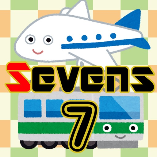 Vehicle Sevens (Playing card game) pure iOS App