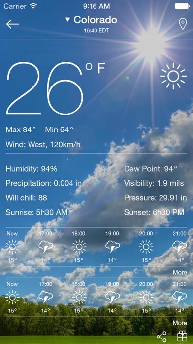 Погода - прогноз погоды на сегодня, завтра, неделюСкриншоты 2