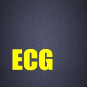 ECG - Cases, Exams and Tutorial for CME & EMT Mobile App Icon