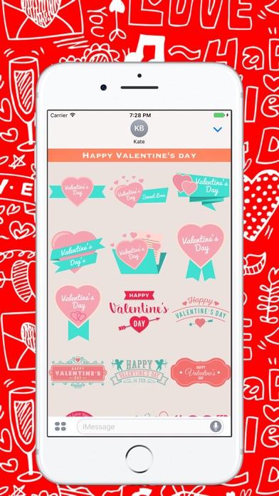 День Святого Валентина - Стикеры для iMessageСкриншоты 1