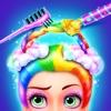 Rainbow Hair Salon! Girl Kids Dressup Makeup Games