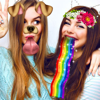 Snap photo filters & Stickers Rainbow Doggy Selfie