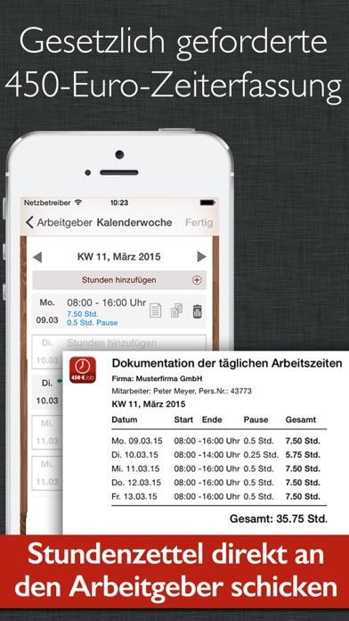 450 euro job zeiterfassung mit stundenzettel im app store. Black Bedroom Furniture Sets. Home Design Ideas