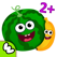 趣味食物游戏 - 最佳幼儿蔬菜水果拼图早教应用教育