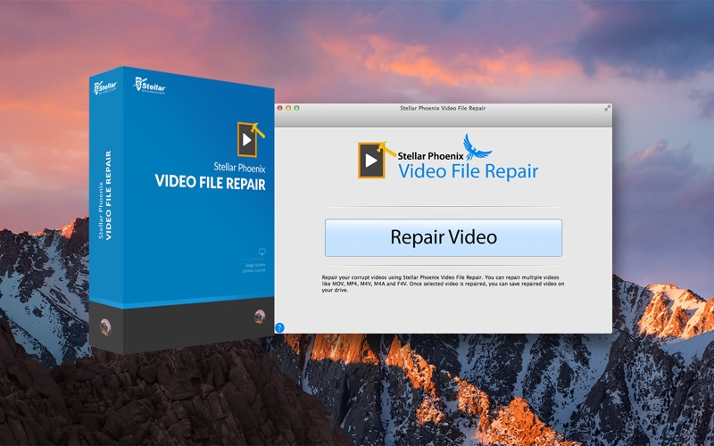 Stellar Phoenix Video File Repair Screenshots