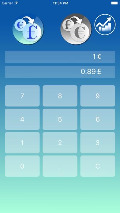 Screenshot von Euro zu Pfund Sterling Währungsrechner1