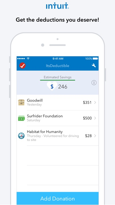 ItsDeductible Charity Donation Tracker on the App Store