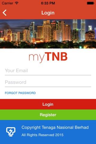 Screenshot of myTNB