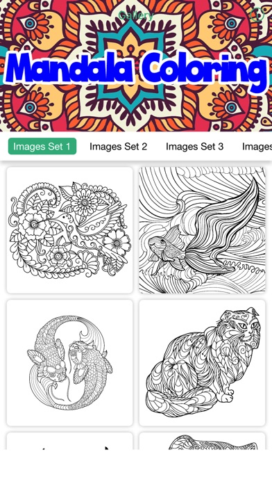 Mandala Coloring Book Stress Relief For Adult On The App Store
