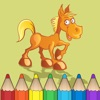 123 Libro da colorare dei cavalli per bambini