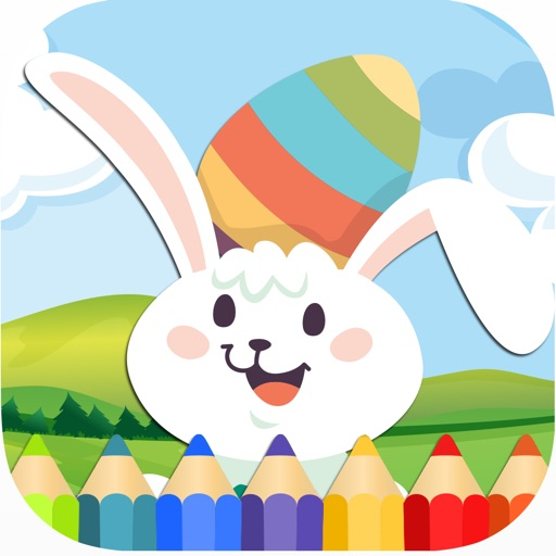 Coloring Pages Easter Bunny Egg Memory Game Kids iOS App