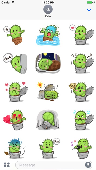 download Tiny Cactus - Cute stickers for iMessage apps 0