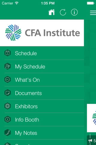 CFA Society Leader Events screenshot 2